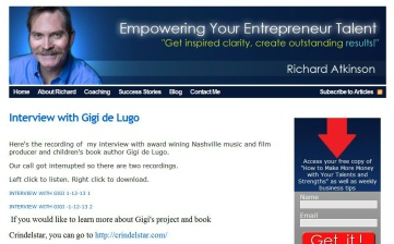 Gigi de Lugo Interviewed by Richard Atkinson of Access Creative Power