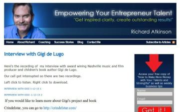 Gigi de Lugo Interviewed by Richard Atkinson of Access Creative Power