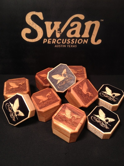 (sponsor) Swan Percussion, CrindelStar Custom Percussion Shakes